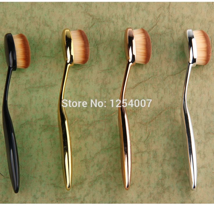 1PC black/gold/rose gold/silver Toothbrush Shape Powder Foundation Blush Counter…