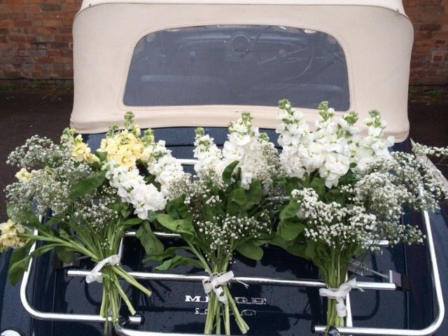 1960s Morris Minor with floral decoration
