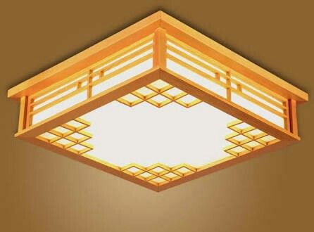 Japanese Ceiling Lights Square