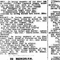 BAILEY, Rose May. In memoriam.  The Age, 23 Jul 1929, 'Family Notices', p. 1.