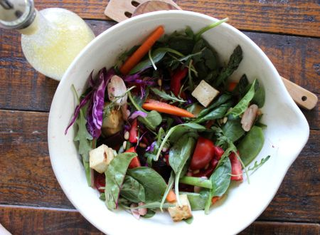 Crispy Tofu & Spring Salad