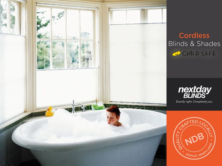 Next Day Blinds offers an array of cordless products, recommended by the Consumer Product Safety Commission for environments with small children.