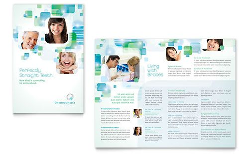 Orthodontist Brochure Template by @StockLayouts. Download, edit, print!