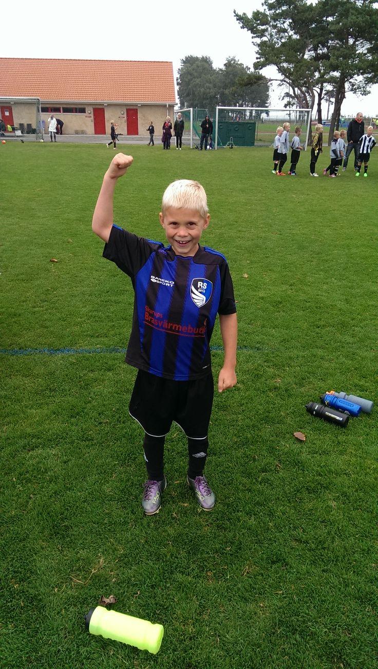 Happy soccer player