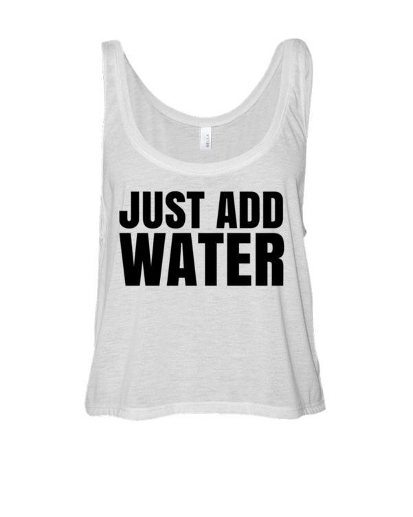 Just Add Water - Spring Break 2015 Wet T-Shirt Contest Crop Tank Top