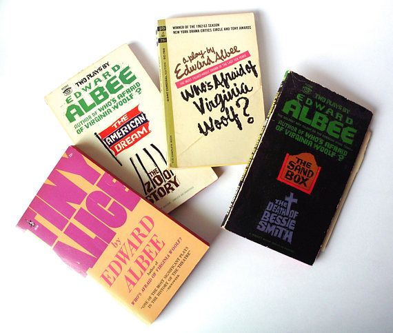 Lot of Edward Albee Plays, Paperback, Who's Afraid of Virginia Woolf?, Tiny Alice, The Sandbox, etc.