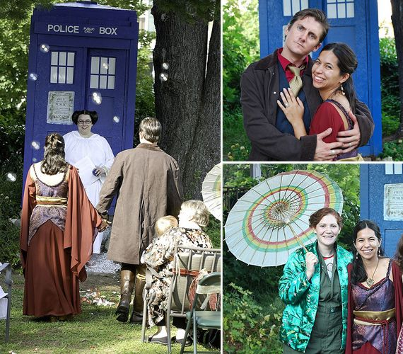 Firefly Wedding ... and a Tardis and Princess Leia for some reason. These people are my heroes.