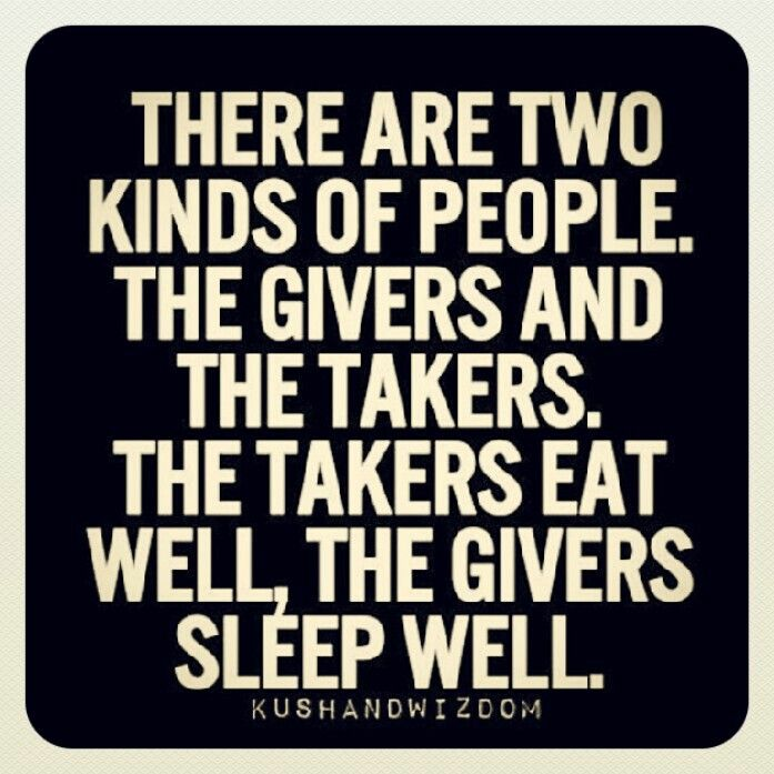 Givers versus takers essay