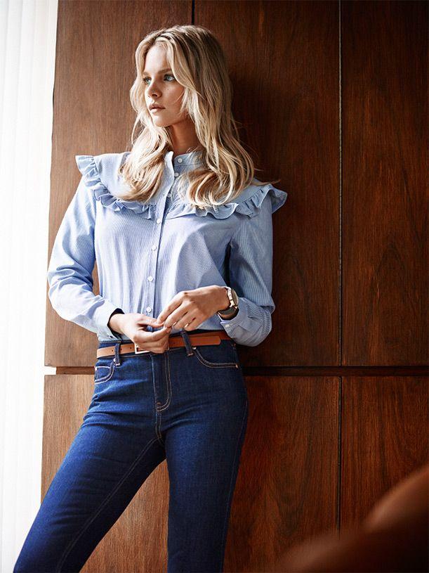 #chambray#shirt#navy#jeans#seventies