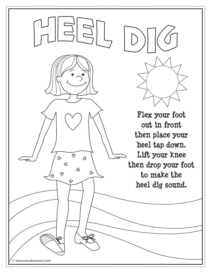free tap dancing printable coloring pages from dancestudioownercom