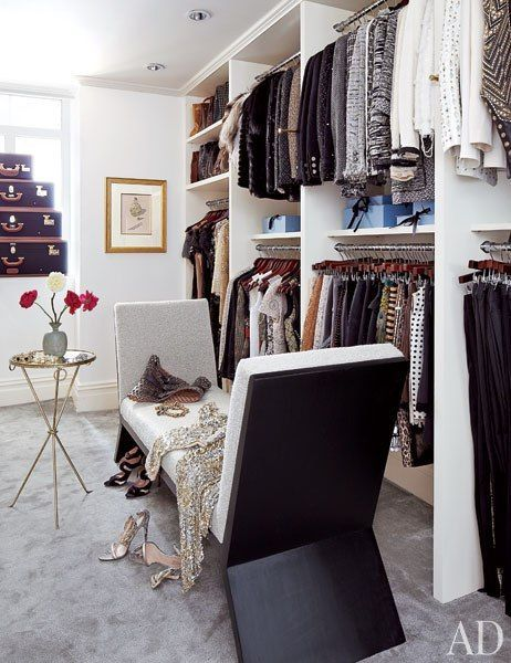 Project Runway judge and fashion editor Nina Garcia's Manhattan dressing room.
