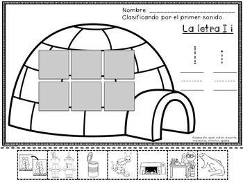 Reconocimiento de Vocales - La Letra Ii - (Set Three of Five) - The most important part of the Spanish Alphabet are the vowels! Las vocales son de suma importancia. Este paquete se enfoca en el sonido de Ii. Mas de 25 paginas para toda la semana.