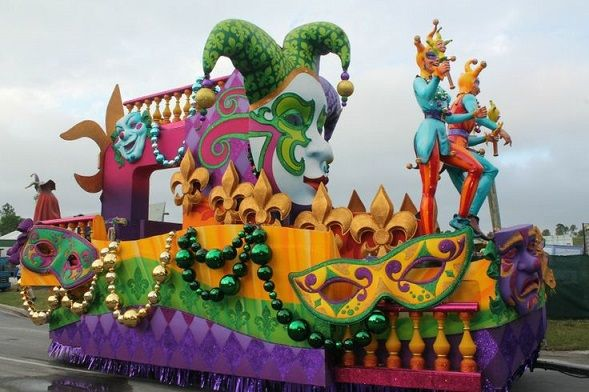 how to build a mardi gras float