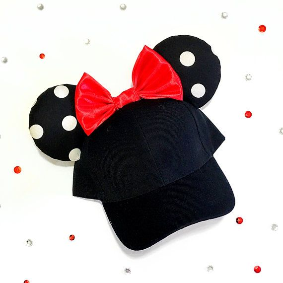 Handmade Disney inspired Minnie Mickey Mouse ears / Hat  + Comfy padded ears.  + This hat is recommended for older kids. Ages around 10 - adult. +++All my ears are handmade by me to ensure quality, no two items are exactly identical.  + If there is something you would like me to change on the ears please feel free to message me for any questions or requests.  +++++ All ears are handmade to order, current wait time is 1-2 weeks to ship. If you need your ears by a shorter time please message…
