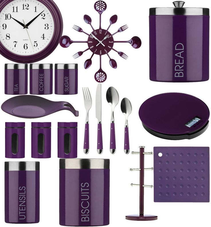 ✐Color: Purple ✦ Purple kitchen accessories