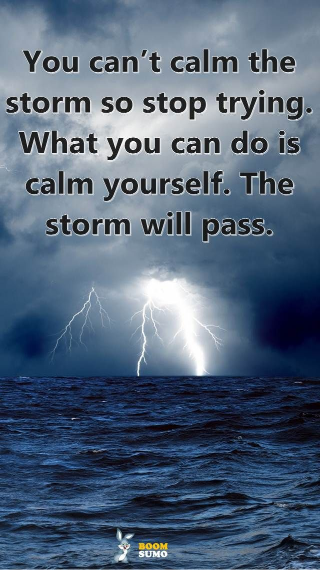 Best life quotes: Positive Sayings You Can't calm When Storm, Calm Yourself