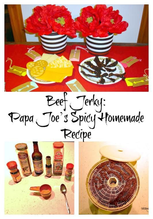 If you like jerky, here's a homemade version that will rock your world!  Served with a cheese platter and some wine, it's a great party menu!