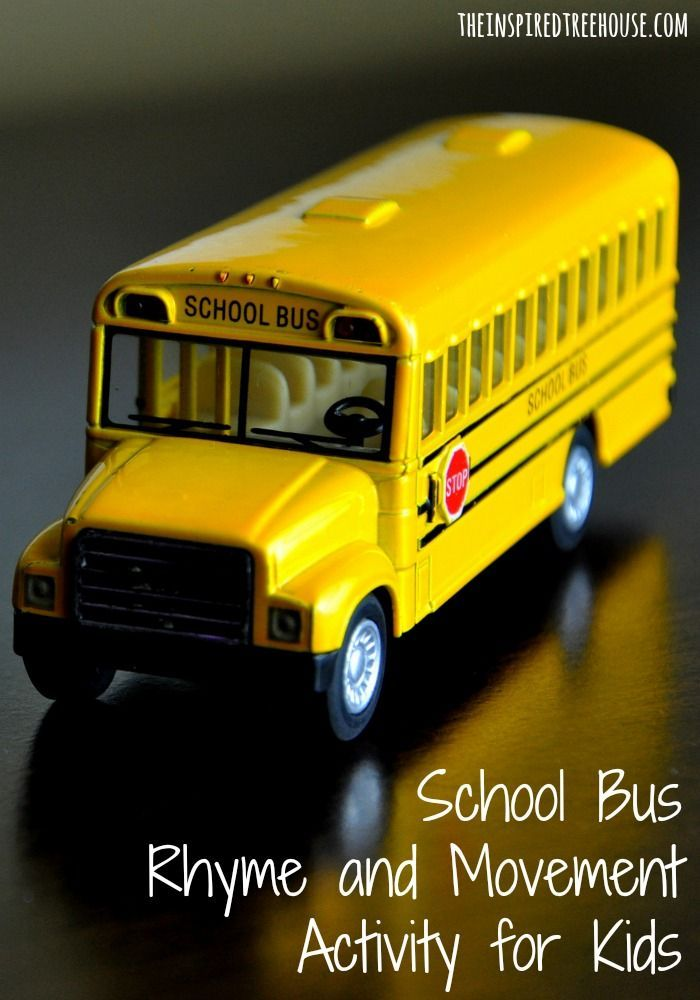 The Inspired Treehouse - The school bus is SO exciting!   This little rhyme and movement activity can bring the fun of riding the bus right into your living room or classroom.  It is a sweet activity to get kids working together and learning names too!