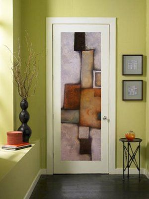 mexican artist agustin castillo paints abstract art on interior doors because a blank