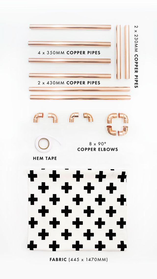 Zana ist ein ganz toller Blog mit DIY-Strecken, die sich sehen lassen können. So zum Beispiel diese Geschichte über einen Zeitschriftenständer aus günstigen Baumarktmaterialien. Man braucht einige Kupferrohre, Verbundstücke für die nötigen Kurven, ein Stück Stoff, ein Linial für die perfekte Stoffkante, einen Cutter und etwas doppelseitiges Klebeband. Am besten in der Farbe des gewählten …