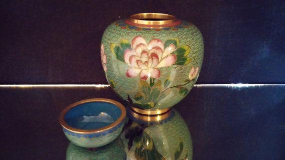Asian Decanter Ginger Jar Canister Urn Vase by frankiesfrontdoor, $76.00