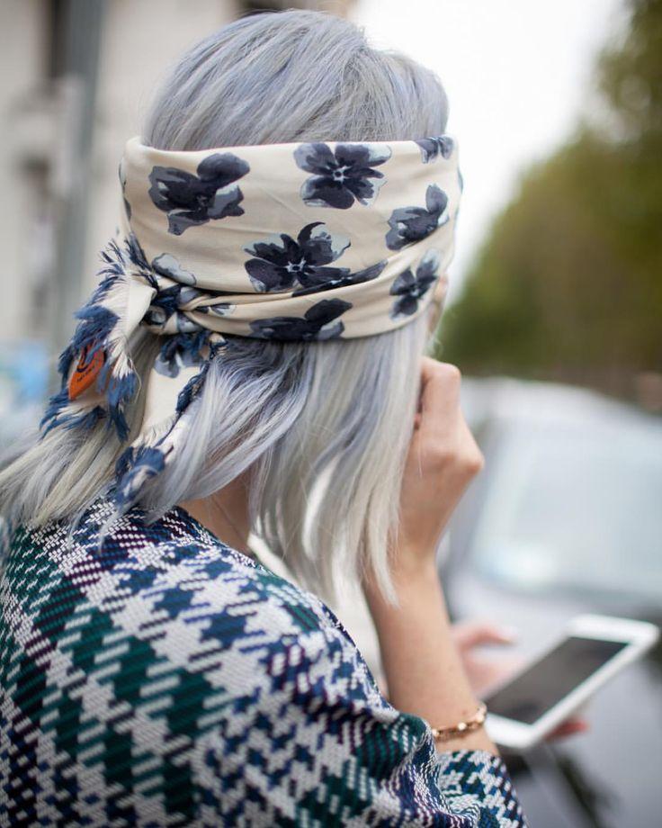 "Style Sight WorldWide on Instagram: ""Grey hair photo via @wwd…"