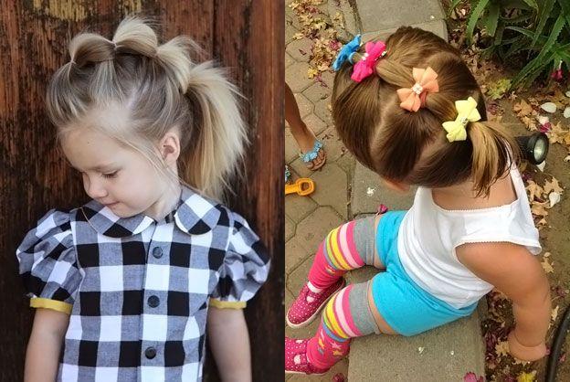 Прически для маленьких девочек на каждый день