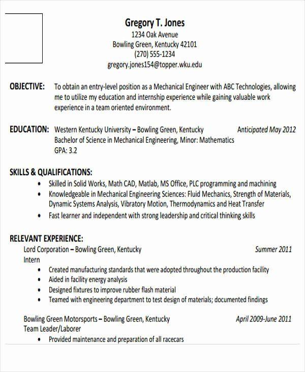 Entry Level Chemical Engineer Resume Luxury 25 Generic Engineering Resume Templates Engineering Resume Templates Engineering Resume Job Resume Samples