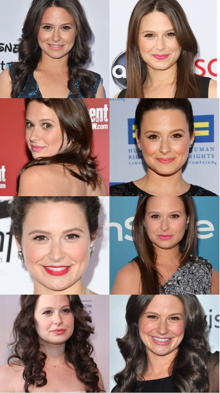 Katie lowes long wavy casual hairstyle thehairstyler com - Katie Lowes