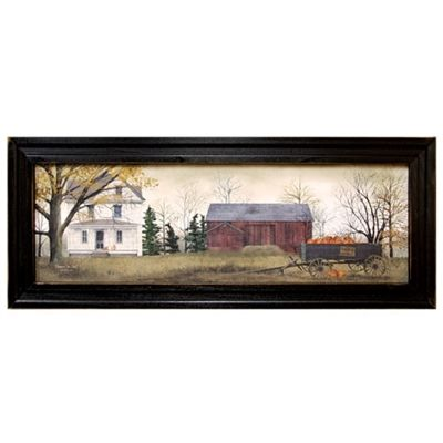 Billy Jacobs Pumpkins for Sale Pumpkin Farm Framed Art Print. Ready to hang country style fall wall decor.