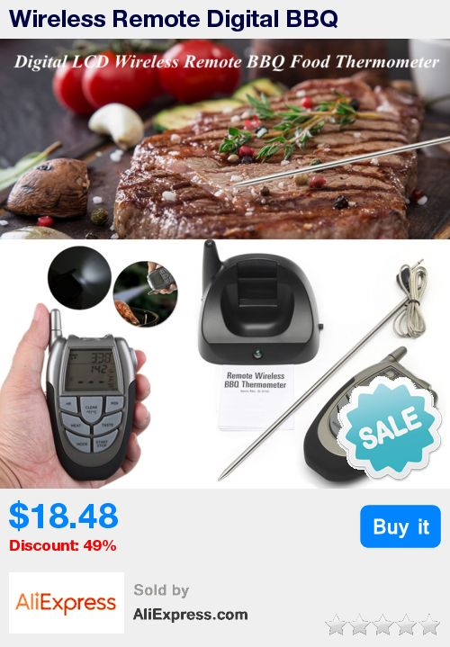 Wireless Remote Digital BBQ Thermometer  LCD Display Food Meat Temperature Measurer Gauge Probe Home Kitchen Cooking Timer * Pub Date: 10:57 Apr 4 2017