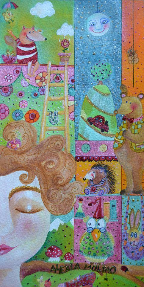 Alexia Molino - Illustrazione per il racconto di una delle favole di un libro destinato alla raccolta di fondi per un'ospedale pedatrico