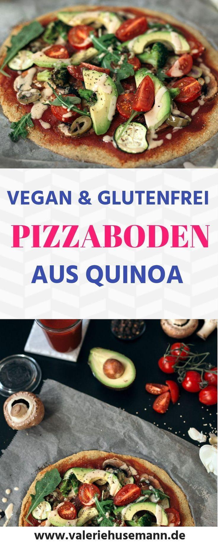 Pizzaboden aus Quinoa, vegan