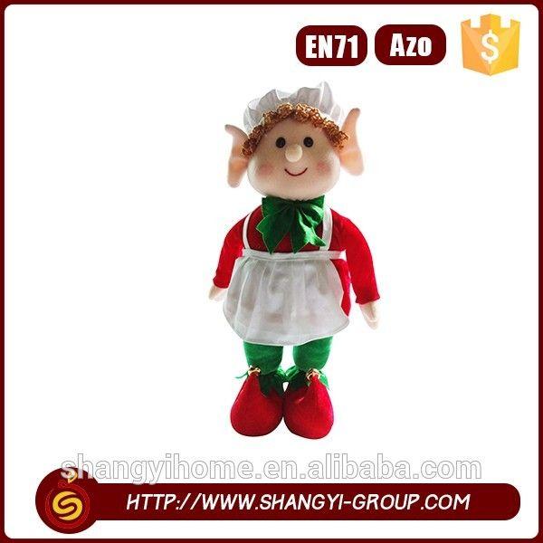 Outdoor precious moments hanging decoration handmade christmas elf toy rag doll