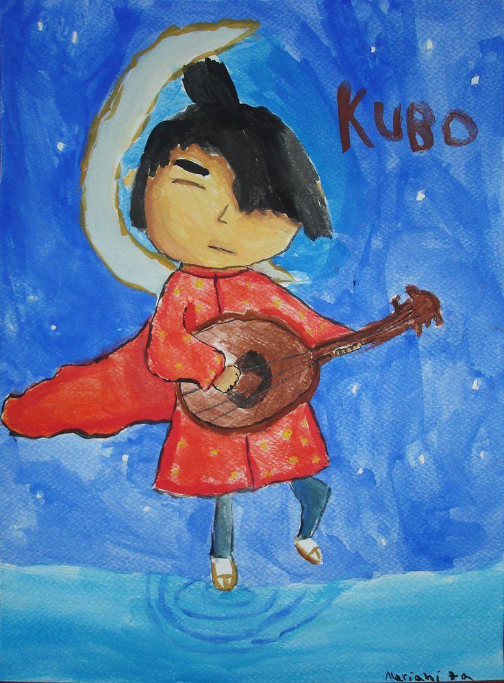 Kubo y las dos cuerdas mágicas en acuarela. Todo el proceso en mi canal en Youtube.