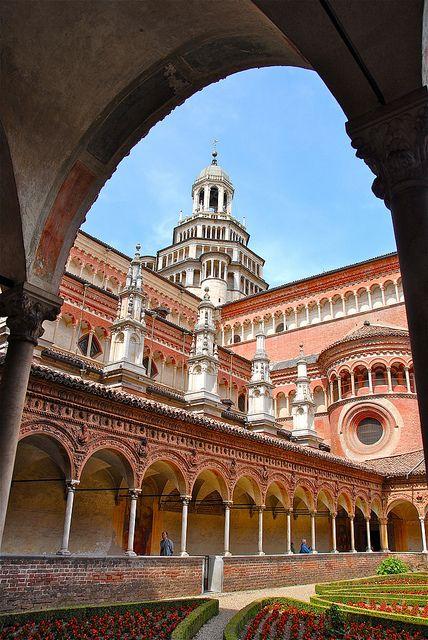Chiostro della Certosa (1396) Pavia, Lombardy, #WonderfulExpo2015 #WonderfulLombardy