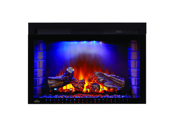 The realistic log bed glows just like real burning logs, and when you turn the fireplace off, fade just like a dying fire. Set the mood instantly with complete control over flame and ember lights, heat intensity and even set the NIGHT LIGHT™ for added ambiance.