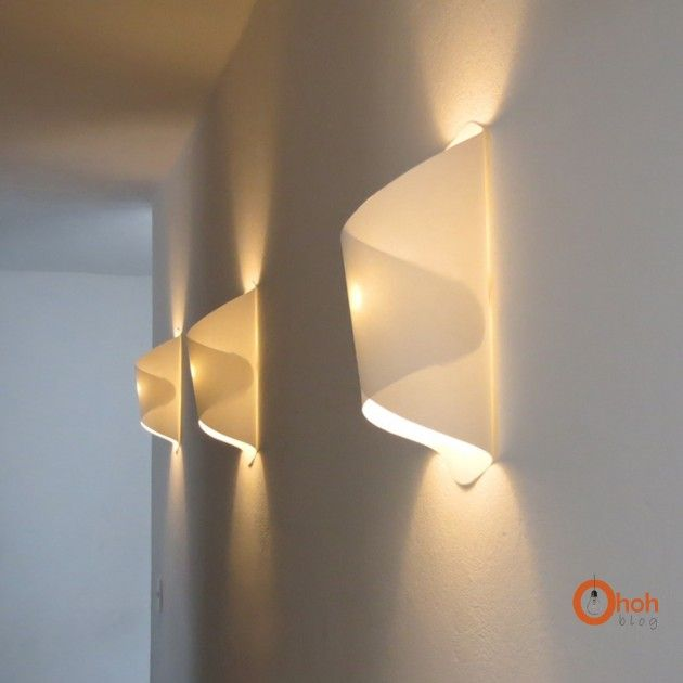 Cool paper lamp -  love theese soft light wall lamps