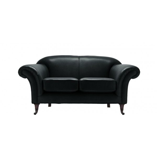 Hardy 2 Seater Traditional Leather Sofa available in 7 Softgrain Leather Colours. UK-made with 5 Year Warranty, Fast Delivery & 21 Day Home Trial.