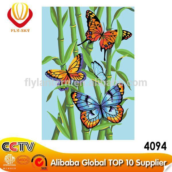 Penjualan panas kanvas kupu-kupu DIY digital lukisan minyak untuk hiasan dinding