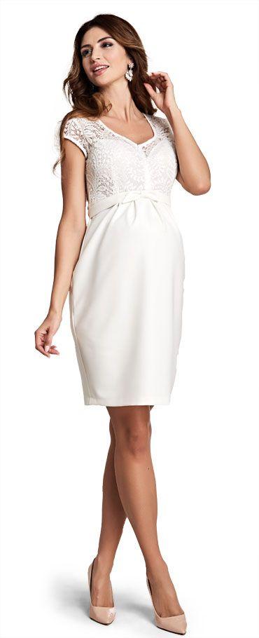 Magic cream maternity dress