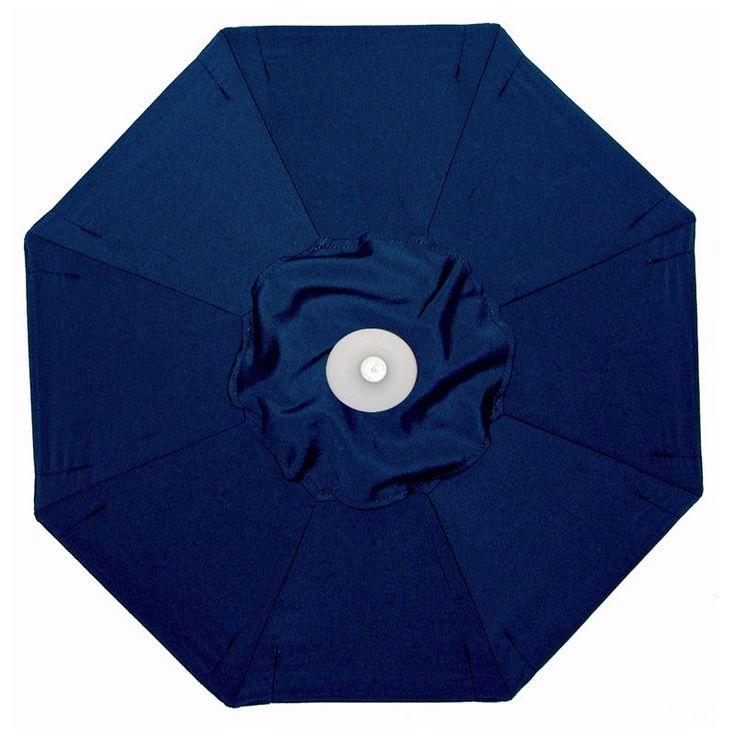 Aluminum Auto Tilt Sunbrella Patio Umbrella With Umbrella Lights Sunbrella  Navy