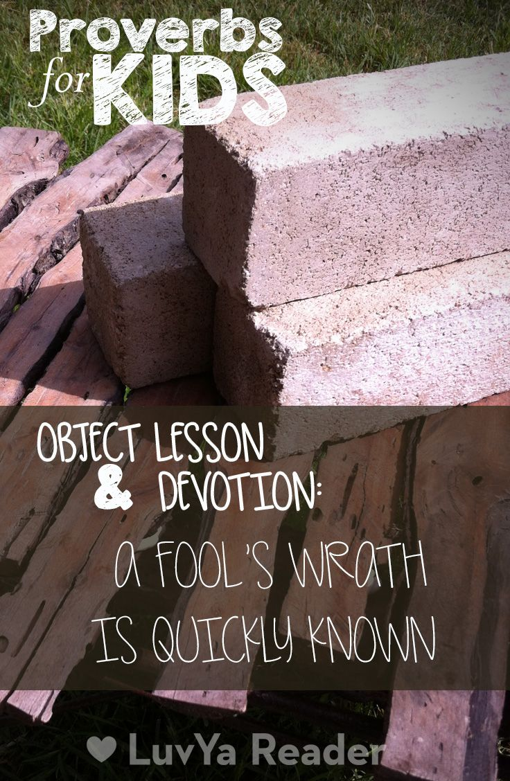 Proverbs for Kids - Object Lesson and Devotion for Kids
