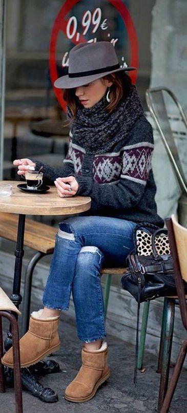 #winter #fashion / knit layers                                                                                                                                                                                 More