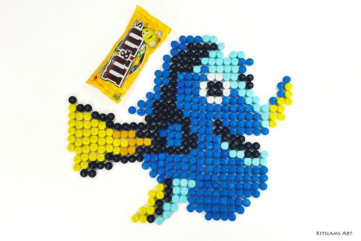 https://flic.kr/p/WrhPQR | Dory M&M Mosaic | It's my M&M Mosaic of Dory from Pixar's Finding Dory.   Watch the Video: youtu.be/ZzU2GNVkoeE