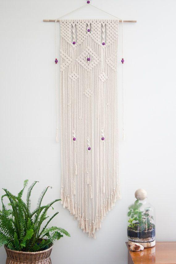 Macrame wall hanging 39 cascade 39 colgantes tapices y - Tapices de macrame ...