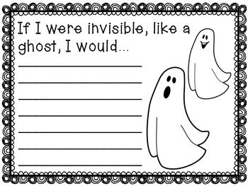 Fun writing prompts for Halloween. 10 different prompts included.