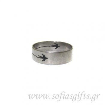 Ανδρικό δαχτυλίδι χαραγμένο σχέδιο πουλί - Είδη σπιτιού και χειροποίητες δημιουργίες | Σοφία #ανδρικά #δαχτυλιδια #κοσμηματα #andrika #daxtylidia #kosmhmata