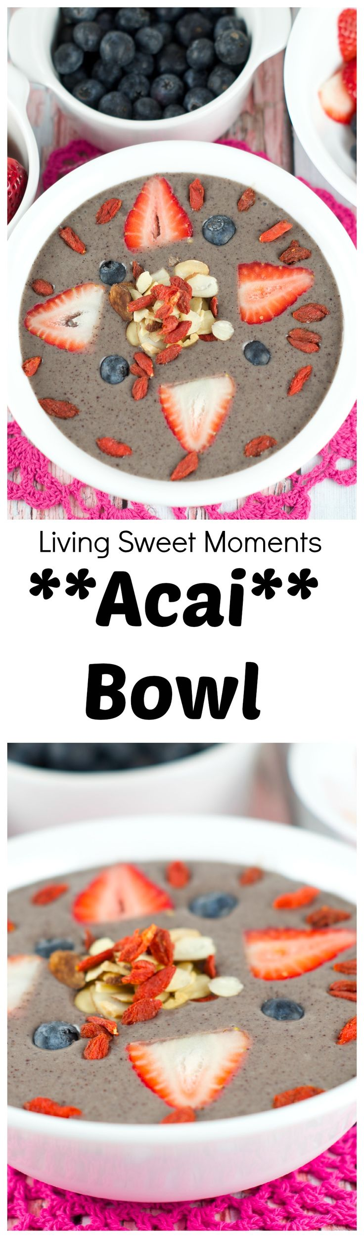 Acai Bowl - Delicious smoothie bowl filled with acai, fruit and nuts. A delicious and healthy breakfast that's ready and seconds and will satisfy all day.