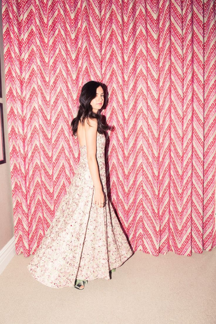 Cazzie David Talks Advice From Her Dad and Her YouTube Series: Cazzie David's name sounds so familiar because her dad is comedian Larry David, but she also has a YouTube series called EIGHTY SIXED. -- Pink chevron wall and strapless gown | coveteur.com